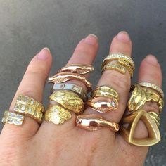 Casual Fridays, Gold Rings, Fashion Jewelry, Style, Swag, Dress Down Friday, Trendy Fashion Jewelry, Stylus, Costume Jewelry