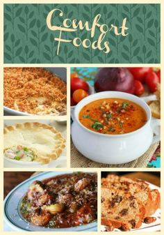 Just in time for fall, a scrumptious list of comfort foods to warm your body and soul!