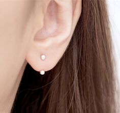 Minimal ball ear jacket. Simple, minimal and very wearable. Popular and trending ear jacket that is great for everyday wear.