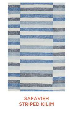 Rug Trend from Elizabeth Lawson Design: Color Blocked - Striped Rugs : Safavieh Striped Kilim