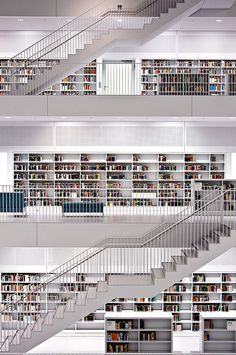 The biggest library in Stuttgart VI | by Andreas Mezger - Art Photography