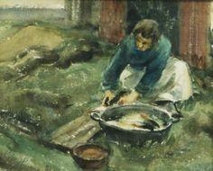 Taidemaalari Viljo Hurmeen työnkuvia: Pihatyöt