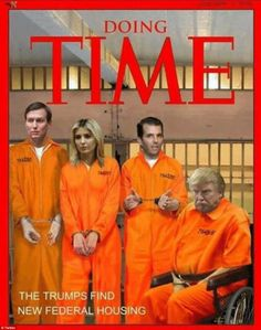 Orange is the new orange: This fake Time cover was mocked up, promising 'new federal housi...
