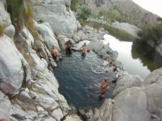 Deep Creek Hot Springs - Apple Valley, CA (Southern CA)- mine and Brad's kind of place. Best skinny-dipping hot springs.