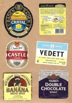 Rótulos de cerveja de diversos países