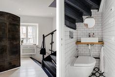 La Buhardilla - Decoración, Diseño y Muebles: Estilo nordico para un espectacular atico abuhardillado #Interiores Alcove, Bathtub, Loft, Shower, Bathroom, Mini, Upcycle, Nordic Style, Furniture