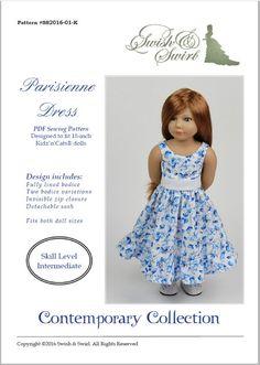 PDF Pattern SS2016-01-K. Parisienne dress for by SwishAndSwirl