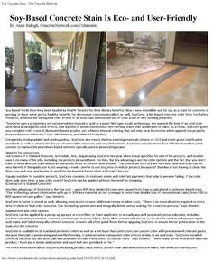 Decorative Concrete article published by the Concrete Network. Real world insights into selecting the right concrete stain for your interior or exterior staining project.