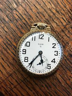 Antique Elgin 575 Mechanical Pocket Watch 10k Rolled Gold, 15 Jewels, N573 #Elgin