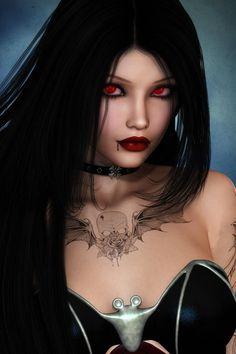 Goth vampiress
