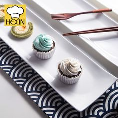 rectangle cake plate is sushi dinnerware. High quality & durable cake plates in different styles and sizes are perfect for restaurants and caterers. Rectangle Cake, Rectangle Plates, Sushi Plate, Kitchen Ware, Cake Plates, Serving Dishes, Dinnerware, Catering, Restaurant