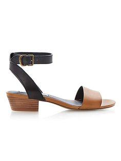 Terrance leather block heel sandals