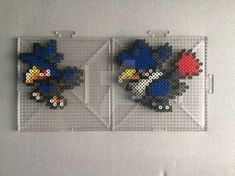 #198, #430 Murkrow and Hunchkrow Perlers by TehMorrison