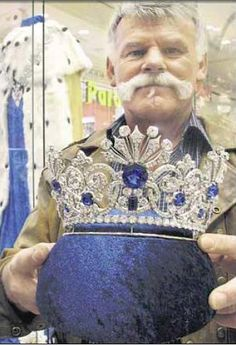 Just found this lovely photo a copy of of Tsarina Alexandra's sapphire tiara by Koechli.