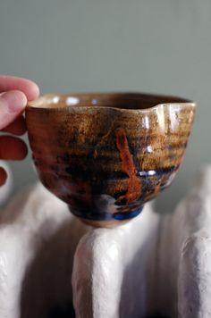 stoneware tea bowl by ralphnuara on Etsy, $36.00