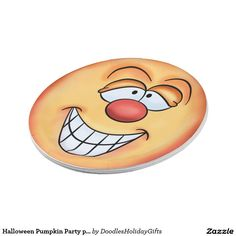 Halloween Pumpkin Party paper plate
