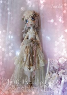 Urchin Art Doll 'Annabel' by Vicki at Lilliput Loft