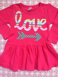 sweet sprouts girls modern love arrow valentine tunic by ohsweetsprouts