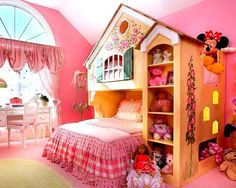Little Girls Bedroom Ideas. love this with the bright colors.