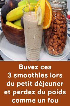 Buvez ces 3 smoothies lors du petit déjeuner et perdez du poids comme un fou Apple Smoothies, Strawberry Smoothie, Breakfast Smoothies, Smoothie Prep, Smoothie Recipes, Sixpack Training, Gourmet Recipes, Healthy Recipes, Just Juice
