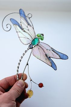 Stained glass dragonfly suncatcher Custom stained glass window hangings decor - - in 2020 Stained glass dragonfly suncatcher Custom stained glass window hangings decor - - in. Dragonfly Stained Glass, Custom Stained Glass, Stained Glass Suncatchers, Stained Glass Crafts, Stained Glass Lamps, Stained Glass Designs, Sea Glass Art, Glass Wall Art, Stained Glass Patterns