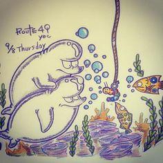 【49yoc】さんのInstagramをピンしています。 《9月8日、おはようございますX^) まだまだ眠い気がするzzz 今日も素敵な出会いがありますよ〜にぃ☆zzz 起きるっっ8^U!!! #Illustration #Art #手描き #イラスト #朝 #お #絵 #笑顔 #Picture #Goodmorning #morning #animal #coloredpencil #Smile #色鉛筆 #動物 #tflers #YOLO #虹 #海 #虫 #シロイルカ #釣り #Rainbow #beluga #insect #sea #fishing》