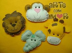 Bichinhos da selva by ♥ ♥ ♥  Arte com Amor  ♥ ♥ ♥, via Flickr