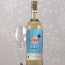 Personalized Wine Bottle Labels - Whimsical Garden Wine Label (4 Colors)