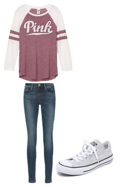 """""""lazy"""" by laura00161 on Polyvore featuring Frame Denim and Converse"""