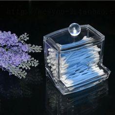 Hot Sale Transparent Storage Box Clear Acrylic Q-Tip Holder Box Cotton Swab Sticks Cosmetic Makeup Organizer Case
