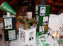 class reunion table decorations use the box in the middle with a vase in it