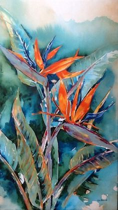 Sabi Stars and Chilo Gorge Gardens, Xerophytica Congress and Aloes… Art Floral, Watercolor Flowers, Watercolor Paintings, Paradise Painting, Posca Art, Tropical Art, Leaf Art, Botanical Art, Painting Inspiration