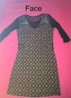 À vendre sur #vintedfrance ! http://www.vinted.fr/mode-femmes/robes-mini/30053934-robe-noir-et-camel-a-motif