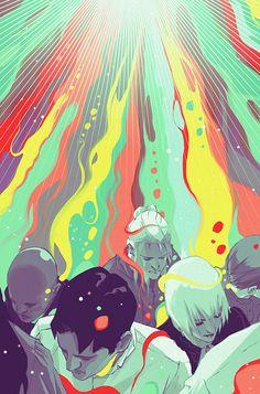 Next Testament Comic Series by Goni Montes, via Behance Illustrations, Illustration Art, Street Art, Graffiti, Painting Collage, Paintings, Animation, Amazing Art, Graphic Art
