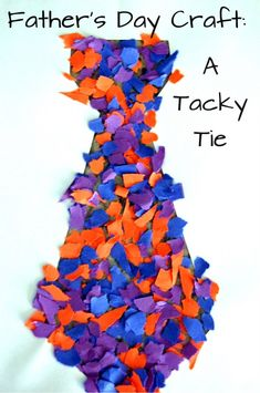 "Here is a ""tacky tie"" craft even your littlest ones can make for their dads."