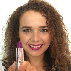 Batom roxo Eudora - purple lipstick