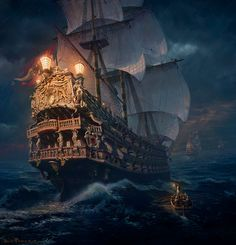 Pirate Ships:  Always been fascinated by pirate ships.  I used to write stories about them as a child.