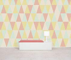 Papier peint Studio Rita, reminds me of color class :) Tree Wallpaper, Original Wallpaper, Cool Wallpaper, Photo Wallpaper, Aztec Designs, Blog Deco, Designer Wallpaper, Wallpaper Designs, Wall Treatments