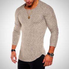 c951a21a227 Striped Fashion Long Sleeve T-Shirt for Men – The Fit Shirt Shirt Style