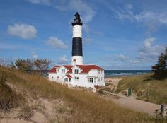 Big Sable Lighthouse in Ludington State Park in Michigan
