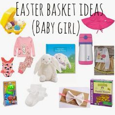 Baby girls first easter basket ideas with links for purchasing favorite easter basket ideas and easter books for kids negle Gallery