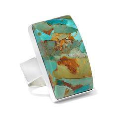 Jay King Green Kingman Turquoise Ring