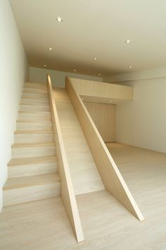 Fragments of architecture I'm such a kid, but I've always wanted a stair slide. Home Interior Design, Interior Architecture, Simple Interior, Stairs Architecture, Interior Doors, Contemporary Interior, Stair Slide, Stairs With Slide, Indoor Slides