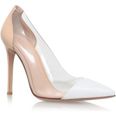 Gianvito Rossi White Patent Leather Calabria Courts (2,140 PEN) ❤ liked on Polyvore featuring shoes, pumps, heels, gianvito rossi pumps, clear heel shoes, white patent leather shoes, high heel pumps and high heel shoes