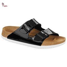 Birkenstock Arizona SL Birko-Flor Sandale normal black patent - 46 - Chaussures birkenstock (*Partner-Link)