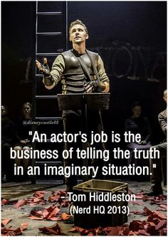Tom Hiddleston Quote. https://mobile.twitter.com/i/web/status/785887834028650496