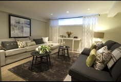 Light & Eclectic basement look from Income Property