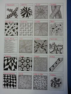 Tangles-03 Tangle doodle zentangle Pattern Tutorial coloring