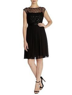 40e11dc24 Buy Coast Lori Lee Cluster Short Dress, Black from our Women's Dresses  range at John Lewis & Partners.