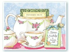Great idea...Kimberly Shaw Tea Cards are very special!  A real tea bag is tucked into each cup!